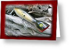 Husband Anniversary Card - Saltwater Fishing Lure - Popper Greeting Card