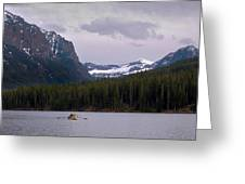 Hyalite Lake Rower Greeting Card