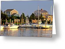 Hyannis Harbor At Sunset Greeting Card