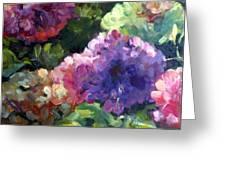 Hydrangea In Shadow Greeting Card