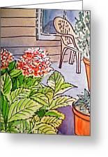 Hydrangea Sketchbook Project Down My Street Greeting Card by Irina Sztukowski