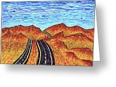 I - 15 Nevada To California Greeting Card