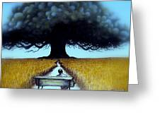 I Looked At The Abandoned Tree And I Not Saw Nests Neither Birds Greeting Card
