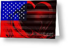 I Love America Greeting Card by Wingsdomain Art and Photography