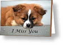 I Miss You Card Greeting Card