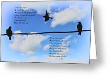 I Wish I Were A Bird Greeting Card