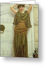 Ianthe Greeting Card by John William Godward