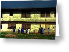 Ibadan School Children Greeting Card