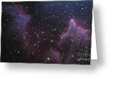 Ic 59 And Ic 63 Near Gamma Cas Greeting Card