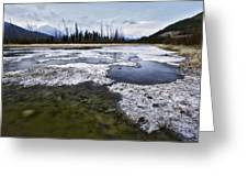 Ice And Water Vermilion Lakes Greeting Card