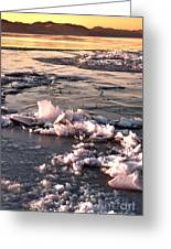 Ice At Sunset Greeting Card