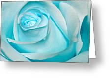 Ice Blue Rose Greeting Card