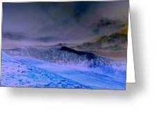 Ice Blue Stone Greeting Card