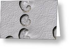 Ice Cap Erosion On Mars, Satellite Image Greeting Card