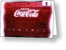 Ice Cold Coca Cola Greeting Card