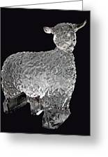 Ice Cold Lamb Carved In Ice Greeting Card