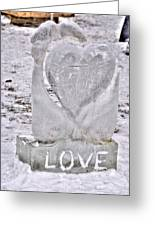 Ice Cold Love Greeting Card