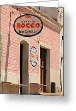 Ice Cream Shop In Todos Santos Greeting Card