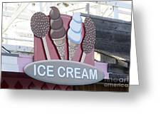 Ice Cream Sign Greeting Card