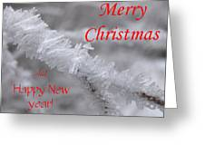 Ice Crystal Christmas Greeting Card