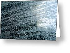 Ice Crystals Abstract Greeting Card