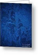 Ice Crystals Blue Design Greeting Card