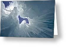 Ice Eagle Greeting Card