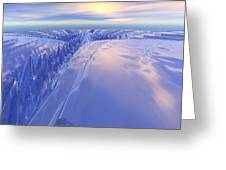 Ice Fissure Greeting Card