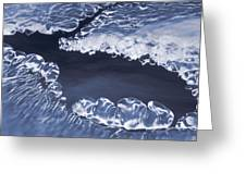 Ice Formations On Small Creek Greeting Card