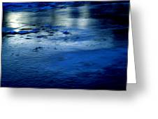 Ice Frost And Snow Greeting Card