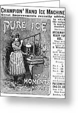 Ice Machine, 1891 Greeting Card