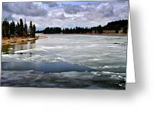 Ice On The Yellowstone River Greeting Card