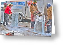 Ice Sculptures Coming About Greeting Card