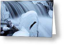 Ice Tombstone Frozen In Time Greeting Card