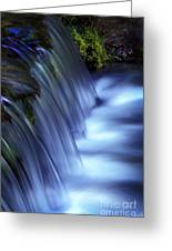 Ice Water Blue Greeting Card