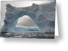 Iceberg With A Natural Arch, Antarctic Greeting Card