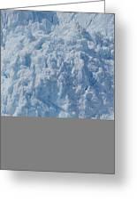 Icebergs Calving From Chenaga Glacier Greeting Card