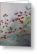 Iced Holly Greeting Card