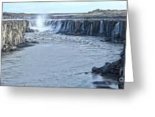 Iceland Waterfall Selfoss 03 Greeting Card
