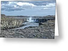 Iceland Waterfall Selfoss 04 Greeting Card
