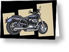 Iconic Harley Davidson Greeting Card