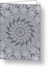 Icy Mandala 1 Greeting Card