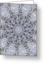 Icy Mandala 3 Greeting Card