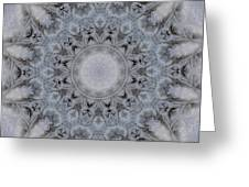 Icy Mandala 4 Greeting Card