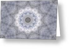 Icy Mandala 5 Greeting Card