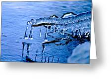 Icy Reflections Greeting Card