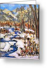 Icy River Greeting Card