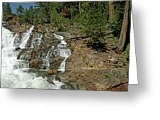 Icy Water Falls Glen Alpine Falls Greeting Card