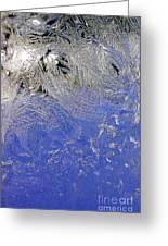 Icy Window Pane Greeting Card
