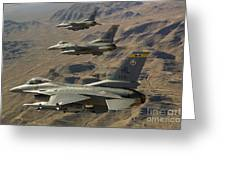 Ighter Jets Return From The Nevada Test Greeting Card